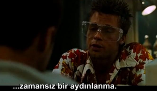 Dovus Kulubu Edward Norton Brad Pitt aydınlanma