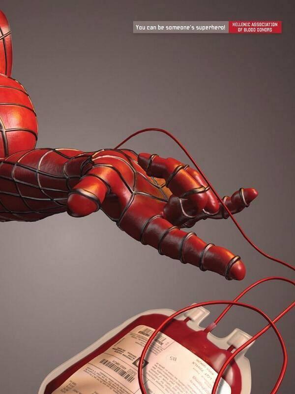 reklamcilik spiderman hero kan bağışı